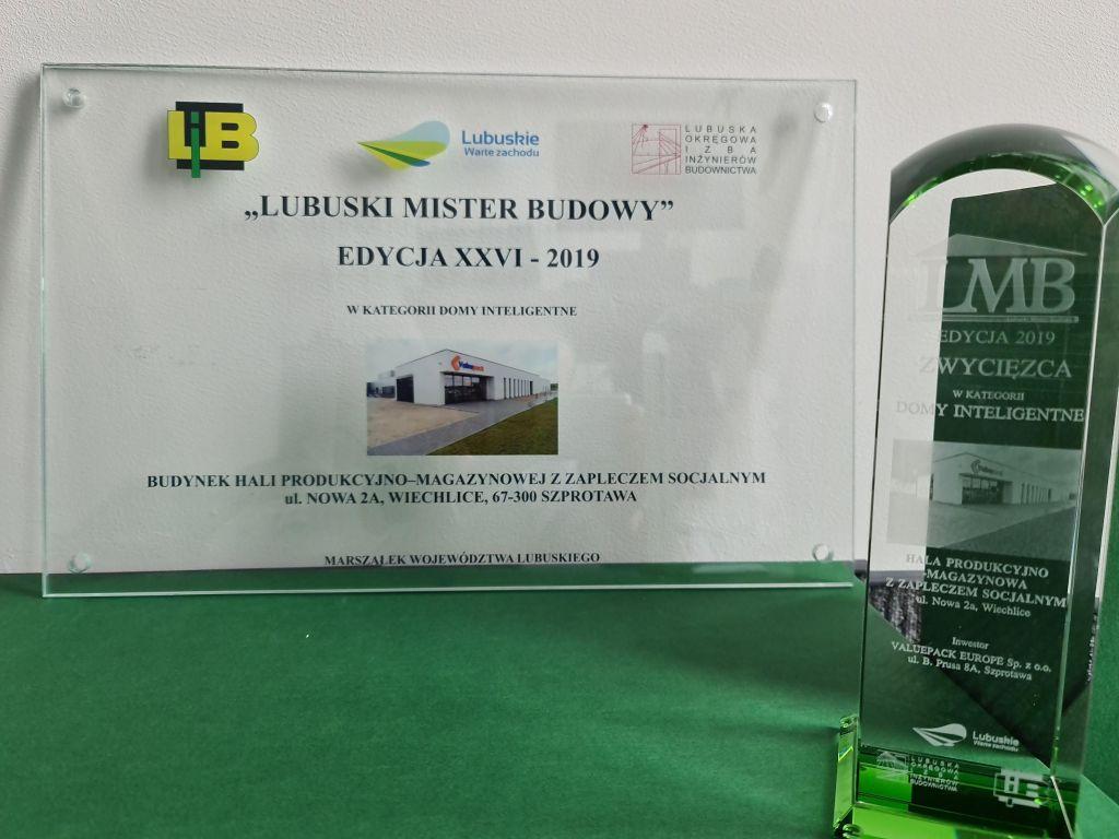 Valuepack nagrodzone w konkursie Lubuski Mister Budowy!